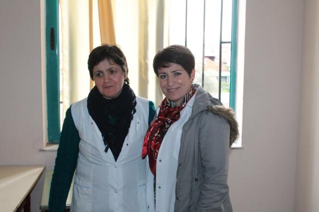 Flutura Malo dhe Diana Myrto, mësuese të shkollës Çajupi